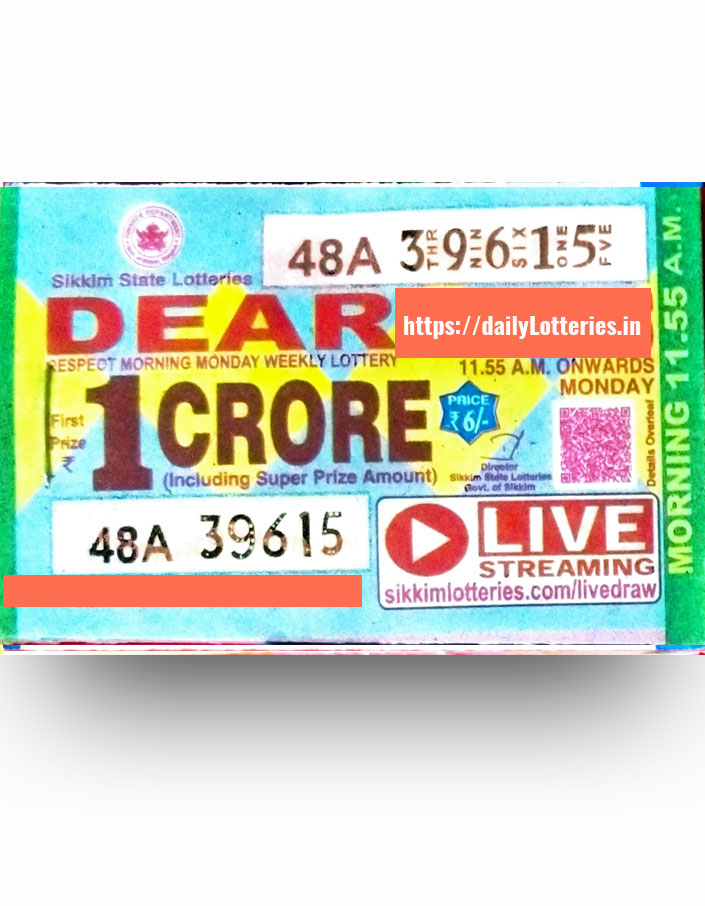 sikkim-dear-morning-monday-weekly-lottery