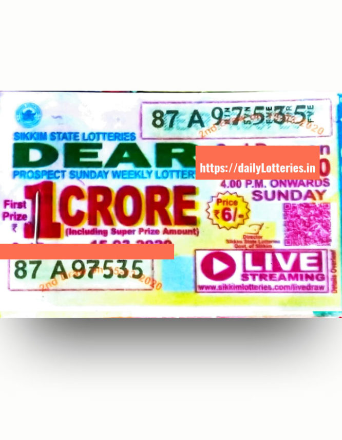 sikkim-dear-sucess-sunday-weekly-lottery