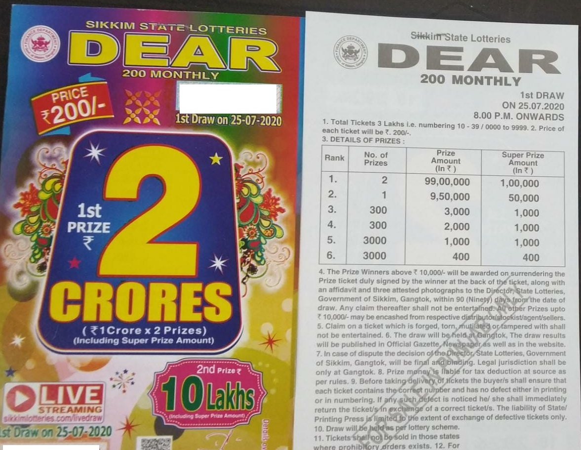 SIKKIM STATE DEAR 200 MONTHLY