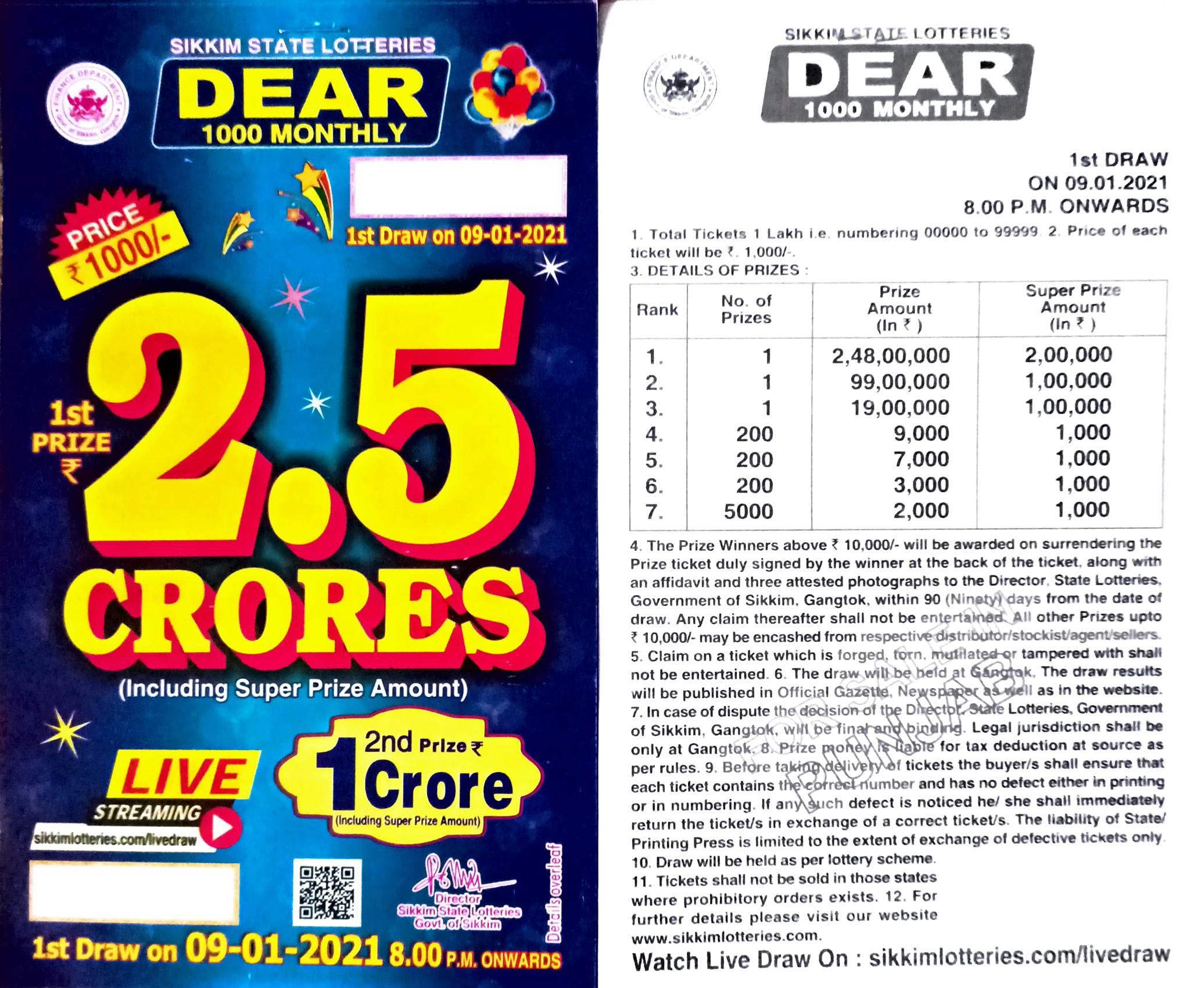 Sikkim_state_lotteries_dear_1000_monthly_09.01.2021